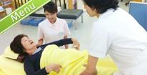 マッサージ 筋肉の緊張を取り 血行を良くします ほぐすことにより 骨に動きがつき 本来の正しい姿勢へ